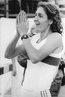 Petra Schersing East German sprinter