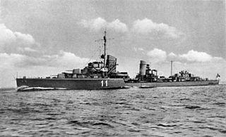 German destroyer <i>Z7 Hermann Schoemann</i> Type 1934A-class destroyer