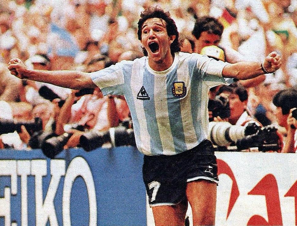 Burruchaga gritando gol de argentina