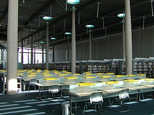 Burton Barr Central Library - The great reading room on the fifth floor of Burton Barr Central Library, Phoenix