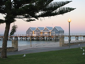Busselton - Busselton foreshore at sunset