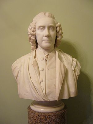 Alexander Monro (primus) - Bust of Monro in Edinburgh's Old College