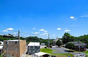 Byrdstown, Tennessee - Town square in Byrdstown