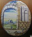 C.sf., pavia, sirio antonio africa (attr.), piastre ellittiche ad architettura, 1675-1710 circa 01.JPG