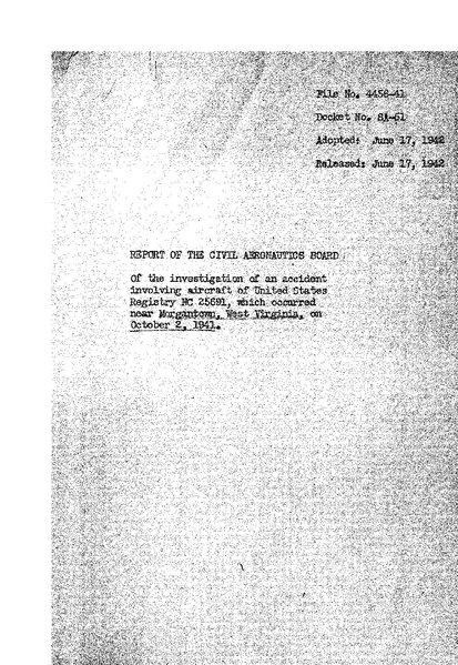 File:CAB Accident Report, Pennsylvania-Central Airlines Flight 142.pdf