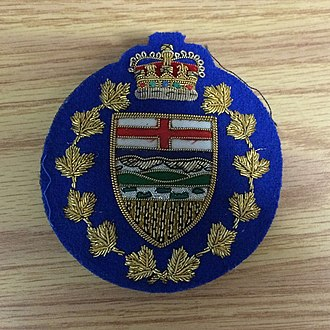 Alberta Sheriffs Branch - Lieutenant Governor of Alberta Shield - worn on the front of CAPS constables blazers when providing security