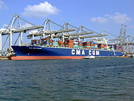 CMA CGM Pelleas pic2, Amazone harbour, Port of Rotterdan, Holland 26-Sep-2008.jpg
