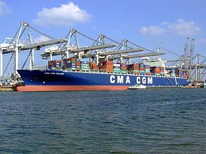 CMA CGM Pelleas pic2, Amazone harbour, Port of Rotterdan, Holland 26-Sep-2008.jpg