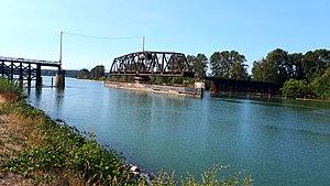 CNR Bridge - CNR Bridge pictured in September 2017