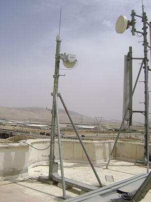Fixed wireless - CableFree Fixed Wireless Microwave Backhaul links deployed for mobile operators in the Middle East. These microwave links typically carry a mix of Ethernet /IP, TDM (Nx E1) and SDH traffic to connect sites with high capacity. Such microwave links used to carry 2xE1 (4Mbit/s) now carry 800Mbit/s or more, using modern 1024QAM or higher modulation schemes.