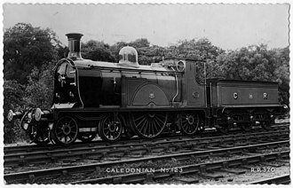 Caledonian Railway Single - Postcard bought in London antique market in 2002