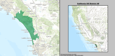 California's 49th congressional district - since January 3, 2013.