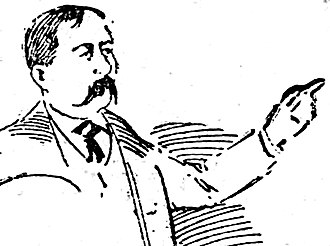 Los Angeles Herald-Express - H.Z. Osborne Express owner and editor, image dated 1895