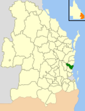 City of Caloundra - Location within Queensland