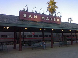 San Mateo station - The platform at San Mateo.