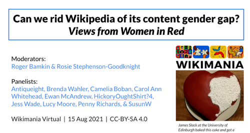 Can we rid Wikipedia of its content gender gap Views from Women in Redpng