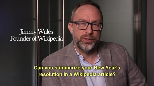 File:Can you summarize your New Year's resolution in a Wikipedia article?.webm