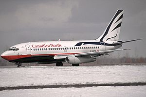 Canadian North - Canadian North Boeing 737-200 in old colours at Ottawa Macdonald–Cartier International Airport in 2001