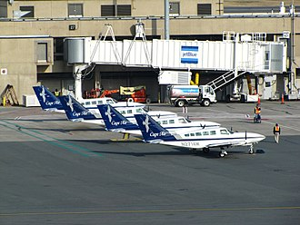 Mainline (aeronautics) - JetBlue's affiliate Cape Air at Logan International Airport.