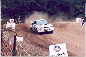 Australian Rally Championship - A Subaru Impreza WRX competing in an Australian rally.