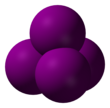 Spacefill model of carbon tetraiodide
