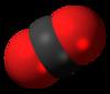 Spac-satiga modelo de karbondioksido