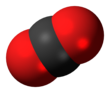Space-filling model of carbon dioxide Carbon dioxide 3D spacefill.png