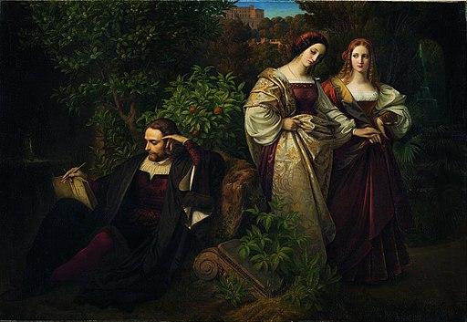 Carl Ferdinand Sohn - Torquato Tasso i dwie Leonory, 1838/39 - Google Art Project
