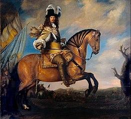 Equestrian portrait of Carl Gustaf Wrangel (1613-1676)