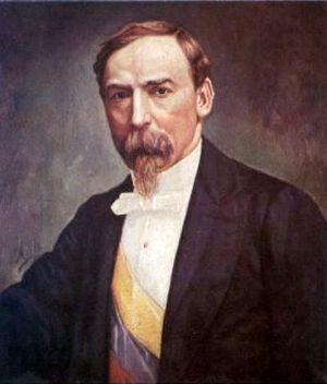 Carlos Holguín Mallarino - Oil painting by Ricardo Moros Urbina.