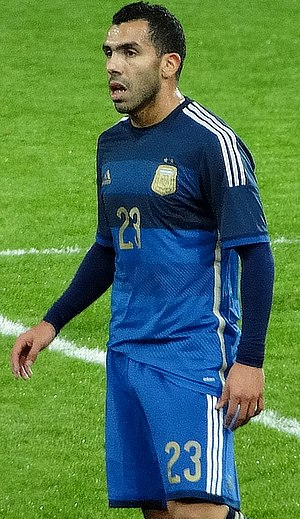 Carlos Tevez - Tevez playing for Argentina at the  Boleyn Ground, November 2014