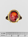 Carnelian oval set in a 17th–18th century gold ring MET DP142591.jpg