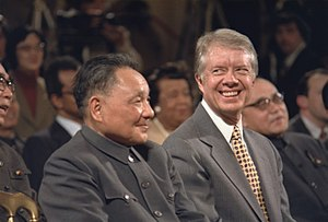 Deng Xiaoping and Jimmy Carter during Sino-Ame...