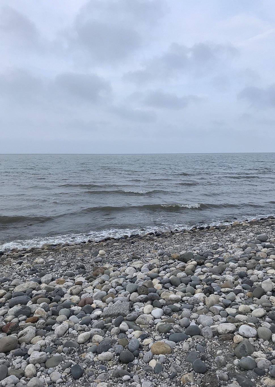 Caspian sea beach in Chaboksar