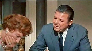 "Jack Carson - As ""Gooper,"" with Judith Anderson as ""Big Momma"" in Cat on a Hot Tin Roof (1958)"