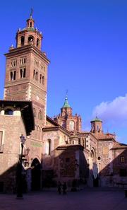 View of the mudéjar Cathedral of Teruel