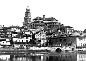 Périgueux Cathedral - Saint-Front Cathedral before the restoration by Paul Abadie. Photo taken by Médéric Mieusement before 1893.