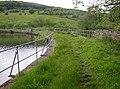 Causeway across Longwood Compensation Reservoir, Longwood - geograph.org.uk - 465091.jpg