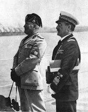 Domenico Cavagnari - Cavagnari (right) with Mussolini