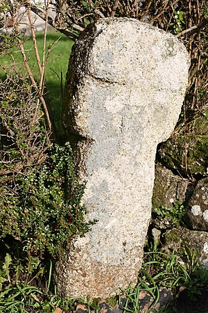 Towednack - A Cornish cross in the churchyard