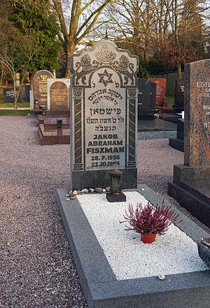 Abduction of Jakub Fiszman - Image: Cemetery Eckenheimer Landstrasse Ffm 2012 560 GS Jakob Abraham Fiszman