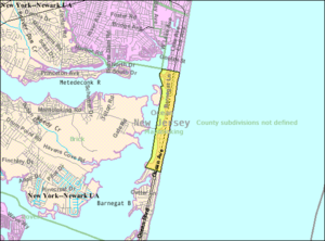 Mantoloking, New Jersey - Image: Census Bureau map of Mantoloking, New Jersey