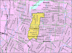 Census Bureau map of New Milford, New Jersey