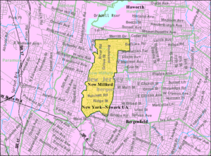 New Milford, New Jersey - Image: Census Bureau map of New Milford, New Jersey