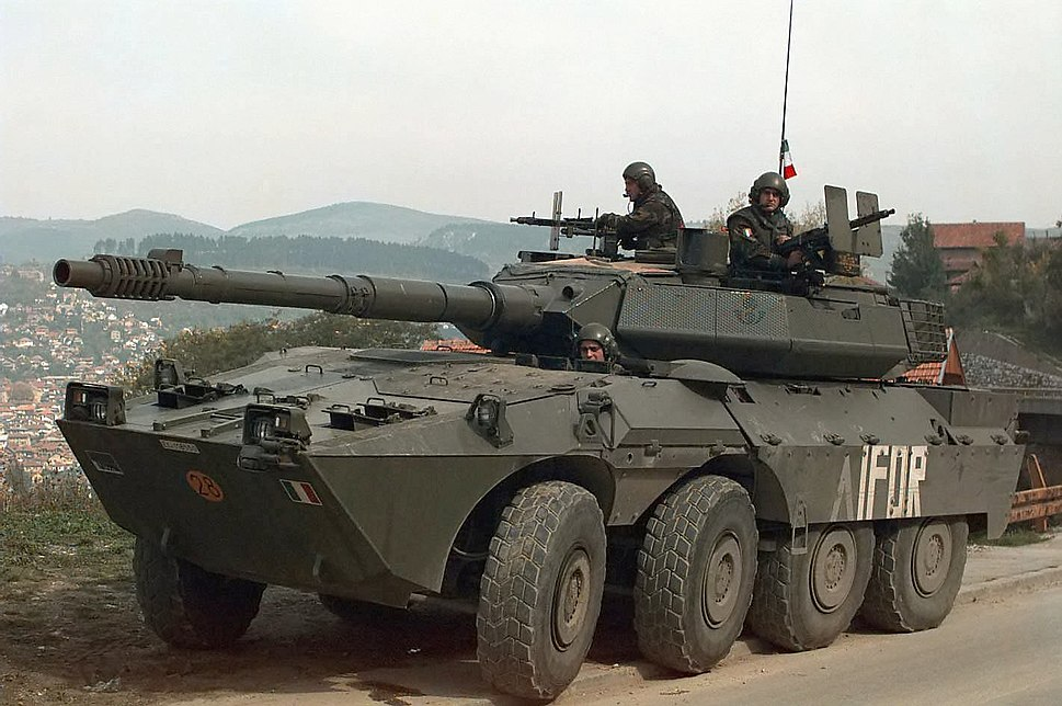 7f95279f96 B1 Centauro with IFOR Markings.