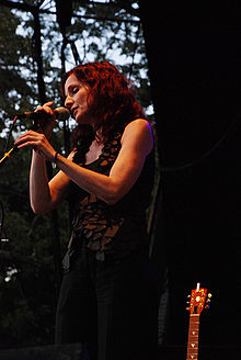 Griffin performing at Sound Stage in Central Park, New York, September 17, 2008