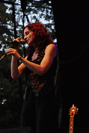 Patty Griffin - Griffin performing at Sound Stage in Central Park, New York, Sept. 17, 2008