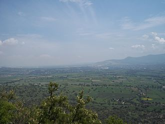 Apaxco - View of Apaxco municipality from Cerro Mesa Ahumada