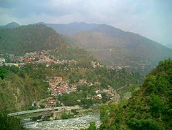 Chamba town from across the river