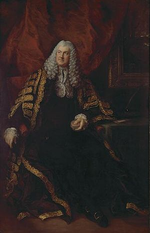 Charles Wolfran Cornwall - Portrait by Thomas Gainsborough